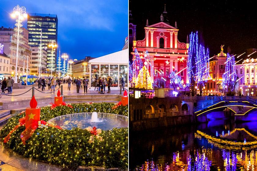 Advent Zágrábban és karácsonyi vásár Ljubljanában