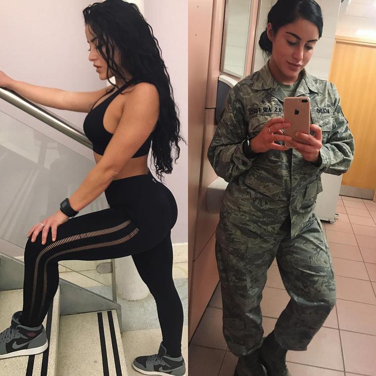 A fiatal nő ugyanis nemcsak sportos és csinos, de főállásban katona és a légierőnél dolgozik...