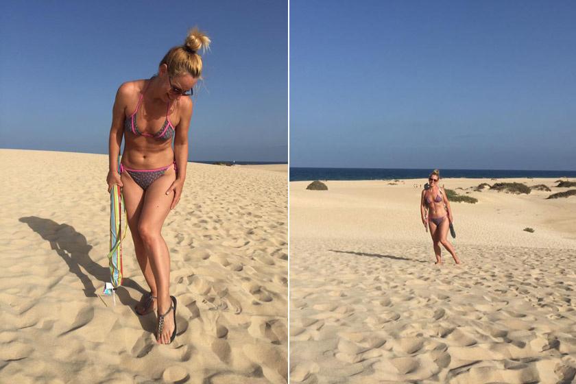 Pataki Zita a 44. születésnapja előtt pár héttel a Kanári-szigeteken lazított bikiniben.