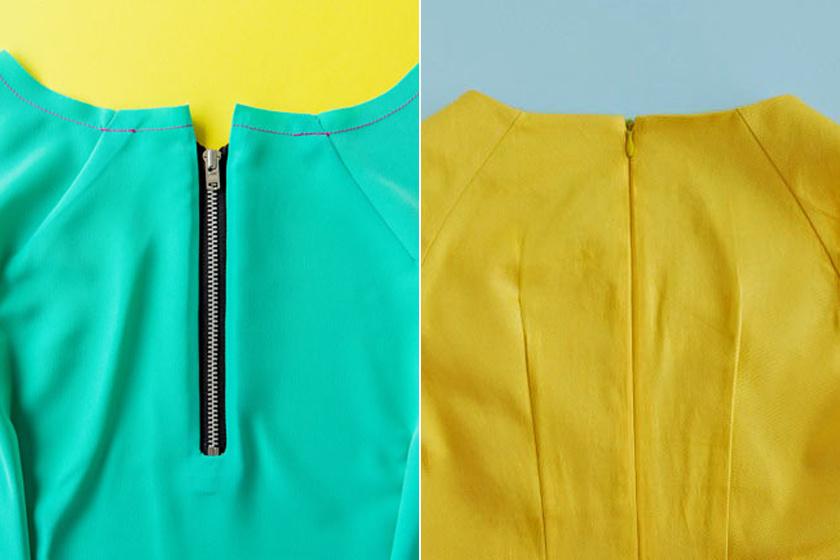 A cipzár mérete mindig árulkodó: ha nem ér el a ruha végéig, de nem a dizájn miatt, akkor bizony rossz minőségű darabról van szó, és sokkal könnyebben ki is szakadhat.