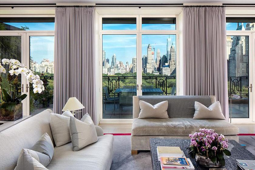 Sting manhattani otthonában elképesztő a Central Parkra nyíló kilátás.