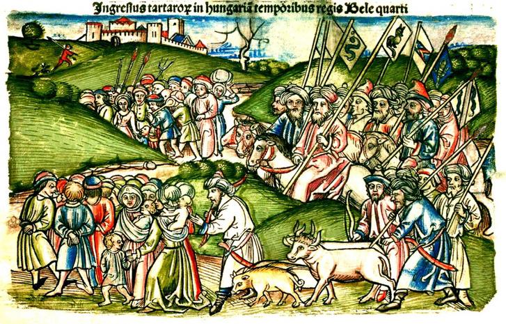 A tatárjárás ábrázolása a Thuróczi-krónikában