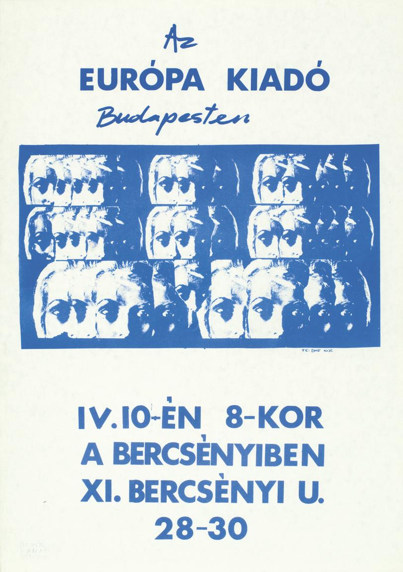 A másik nyomdai technika az offszetnyomás volt. Az offszet sajátosságai miatt a plakátok egy része elég egységes képet mutatott, fehér alapon blokkbetűkkel a zenekar és a koncert neve, alatta egy foltban valami kikeményített, kontrasztos fekete-fehér grafika, alul pedig a helyszín és az időpont.