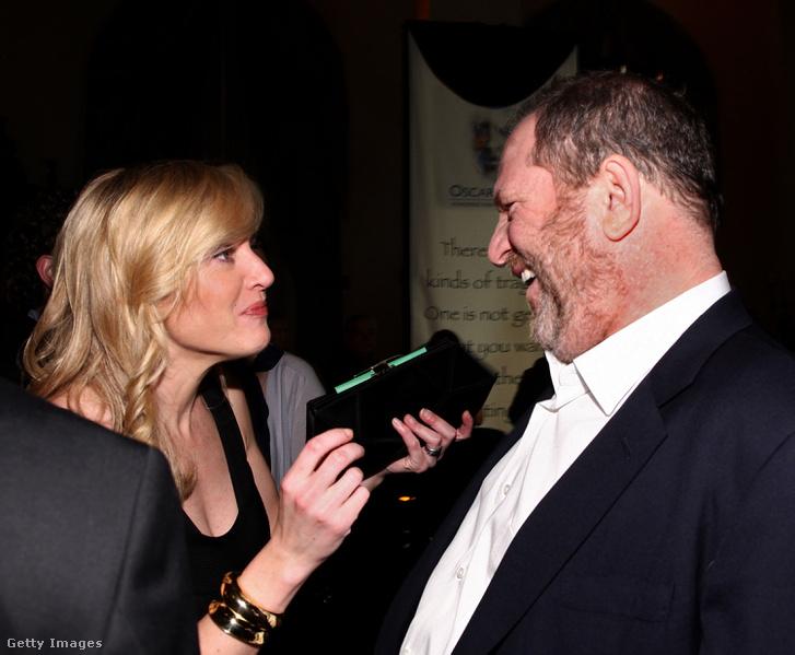 Kate Winslet és Harvey Weinstein 2009-ben az Oscar-díjátadón