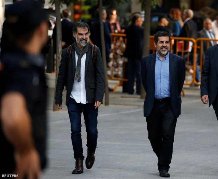 Jordi Cuixart és Jordi Sanchez