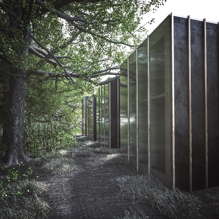 """""""A szerkezet kialakításánál kitűzött főbb szempontok a visszafogott és """"olcsó"""" anyaghasználat"""" - fogalmaznak az építészek."""