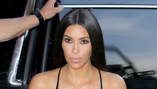 Kim Kardashian testképzavarral küzd a róla készült bikinis fotók miatt