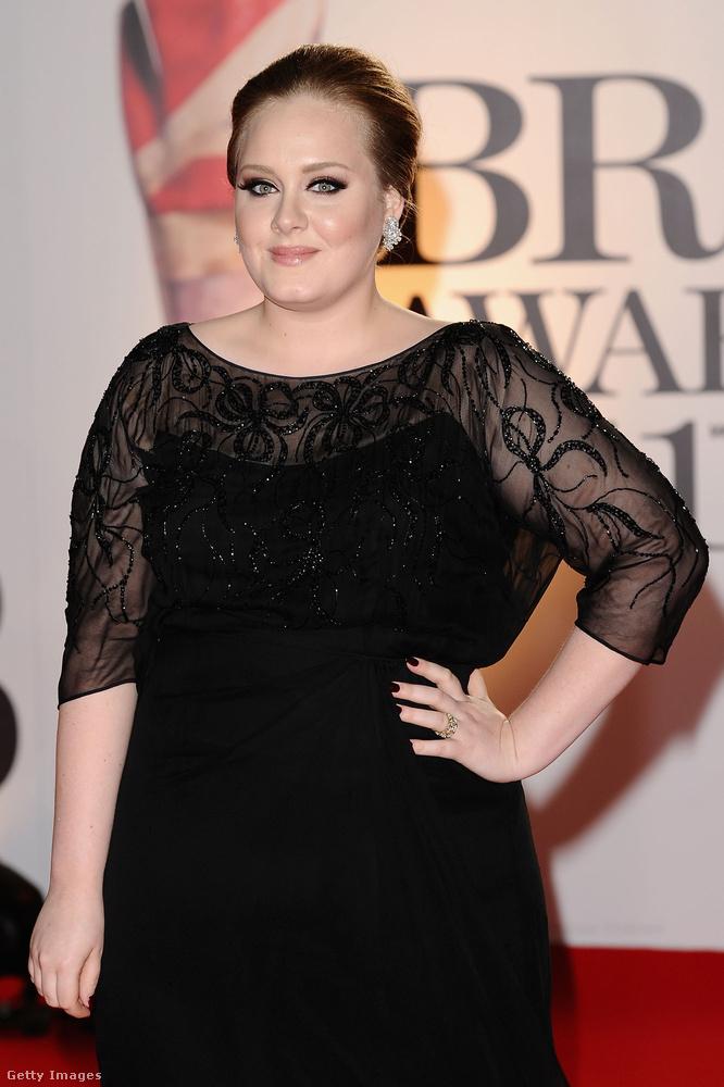 Ezen a 2011-es képen Adele 22 éves volt.