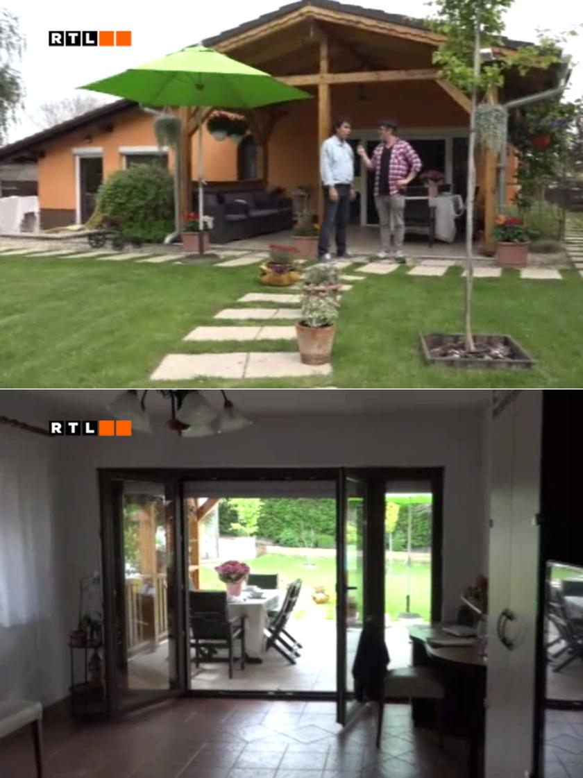 Gergely Róbert ebben a gyönyörű érdi családi házban él feleségével, Tímeával.