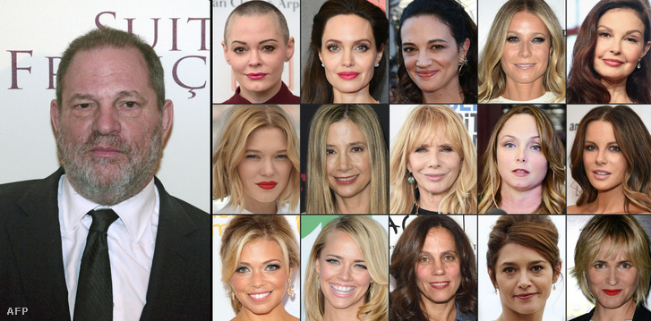 Weinstein és azok az áldozatai, akik eddig jelentkeztek