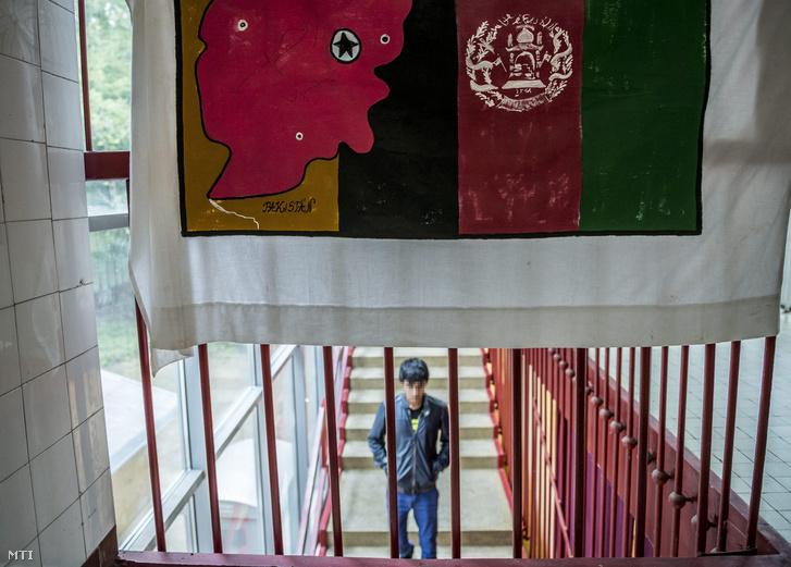 Afgán fiatal a fóti Károlyi István Gyermekközpont kísérő nélküli kiskorúak gyermekotthonában 2015. szeptember 11-én
