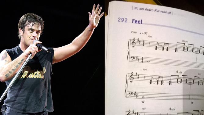 Robbie Williams bekerült Svájcban a templomi énekeskönyvbe