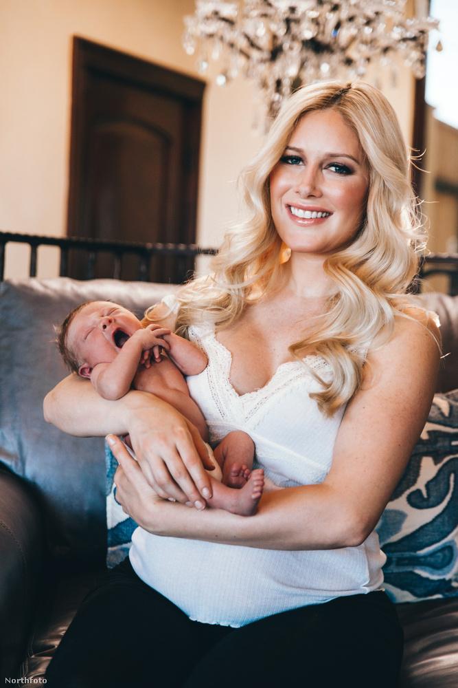 Még három hét sem telt el a szülés óta, de Heidi Montag természetesen csodás hajjal, tökéletes sminkkel mosolyog, merthát a kismamák élete hogyan is lehetne kerek megfelelő mennyiségű szépítkezés nélkül?!
