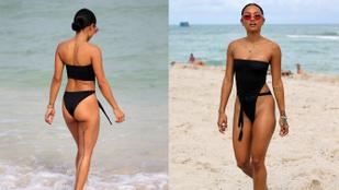 Ez az egyrészes fürdőruha hátulról bikini