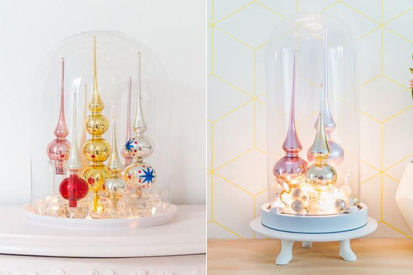Ezek az üvegburába zárt csúcsdíszek valami mesebeli látványt nyújtanak. Talán, mert annyira emlékeztetnek A szépség és a szörnyetegre.