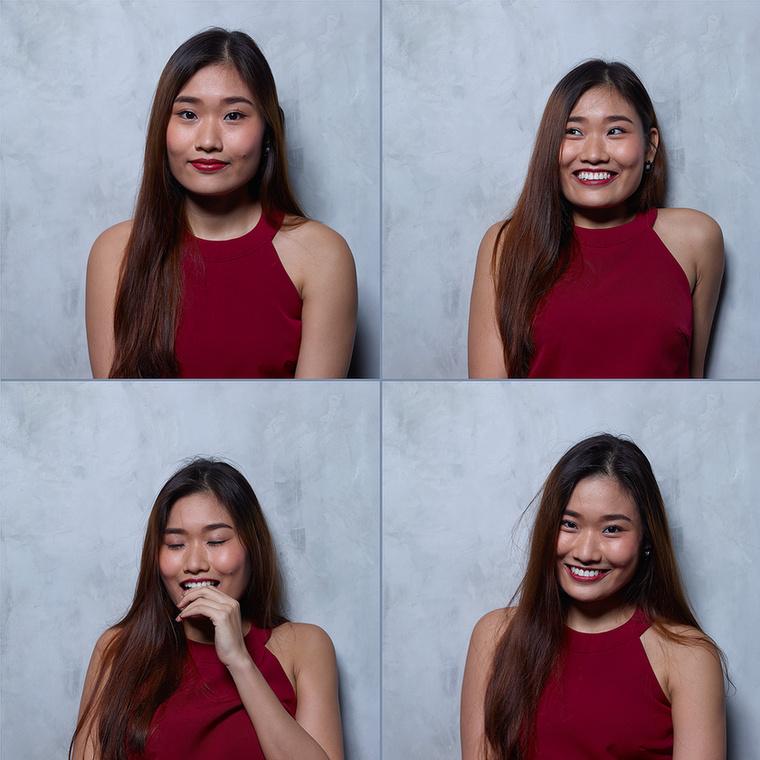 A négy részletből álló képek azt örökítik meg, hogy milyen a nők arca orgazmus előtt, közben és után.
