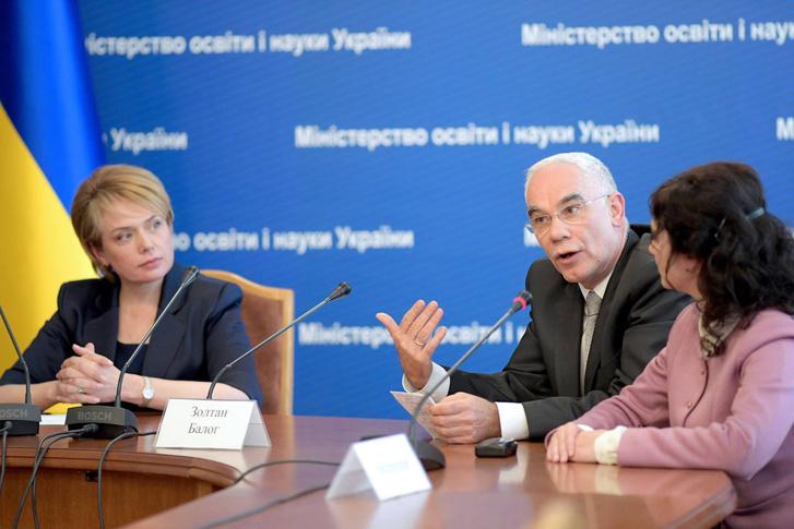 Balog Zoltán a közösen tartott sajtóértekezleten konstruktívnak nevezte kijevi tárgyalások légkörét.