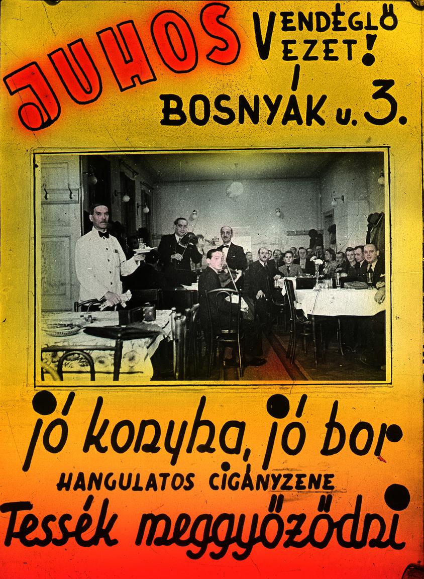 Mindössze egy házra Vághy mester fodrászatától, ma is álló földszintes zuglói épületben működött Juhos Albert vendéglője, amely szintén gyümölcsöző befektetésnek számított a negyvenes években. A vállalkozás elődje 1889-ben jött létre, s ezzel Zugló egyik legrégibb ilyen intézménye volt, amelyre a ma élők leginkább csak Makrapipa vendéglőként emlékezhetnek. A filmgyár közelsége hírességeket is idevonzott, s a kerthelyiségben álló hatalmas akváriumból a vendég maga választhatta ki a halat, amit aztán kívánsága szerint készítettek el a konyhán.