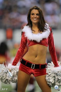 Ez a lány a Dallas Cowboys csapatnak szurkol