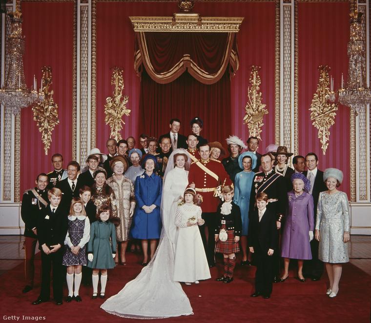 Anna hercegnő és Mark Phillips 1973 novemberében házasodtak össze
