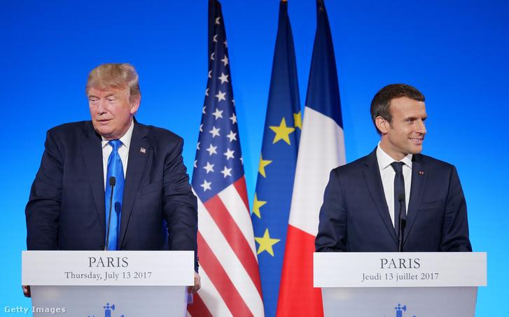 Donald Trump és Emmanuel Macron