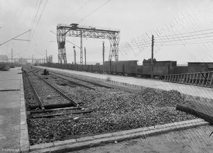 Az újjáépített Boráros téri HÉV állomás 1981-ben