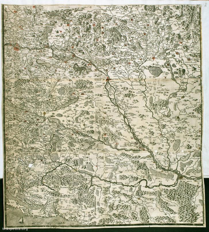 Magyarország térképe, 1700.