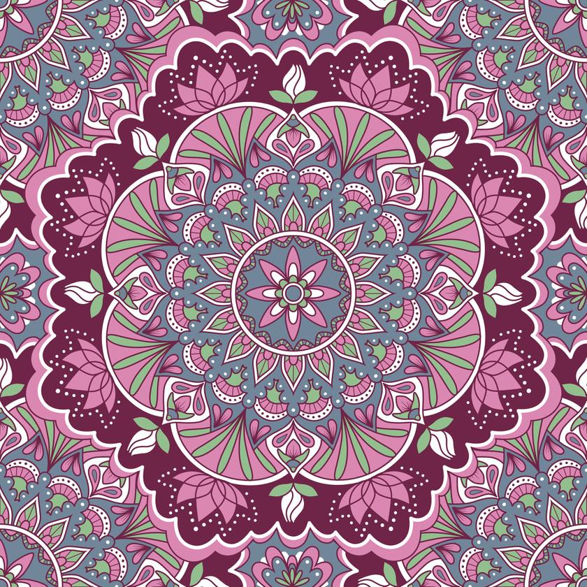 A rózsaszín a belső regenerálódásra hat, és az egyetemes gyógyulást segíti elő. A mandala ciklusai és szimmetriája az élet körforgását rejtik magukban. A következő kép alatti linken elérheted nagy méretben is.