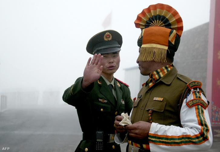 Határőrök Kína és India határán