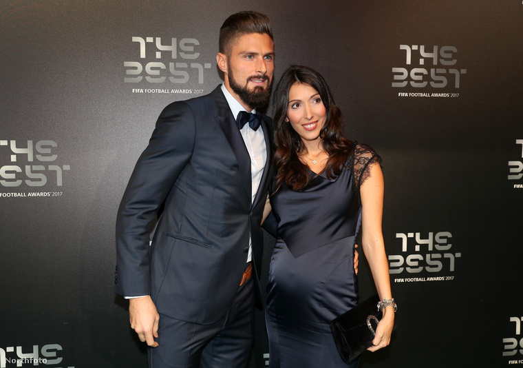 Olivier Giroud és felesége, Jennifer Giroud