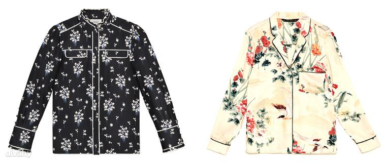 A pizsamára emlékeztetó ingek és nadrágok is divatban vannak meg, limitált kollekciós darab 29990 forint lesz, a világosabb, zarás felső ára pedig 8995 Ft