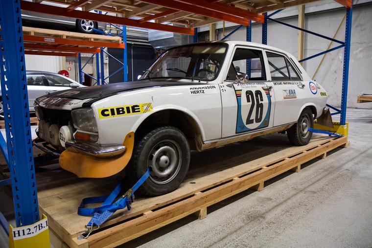 Az 1975-ös Szafari ralit ezzel az 504-essel nyerte Ove Andersson és navigátora, Arne Hertz