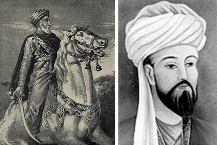 Hassan-i Sabbah, az első alamuti nagymester, illetve Rashid ad-Din Sinan, a Hegyi Öreg