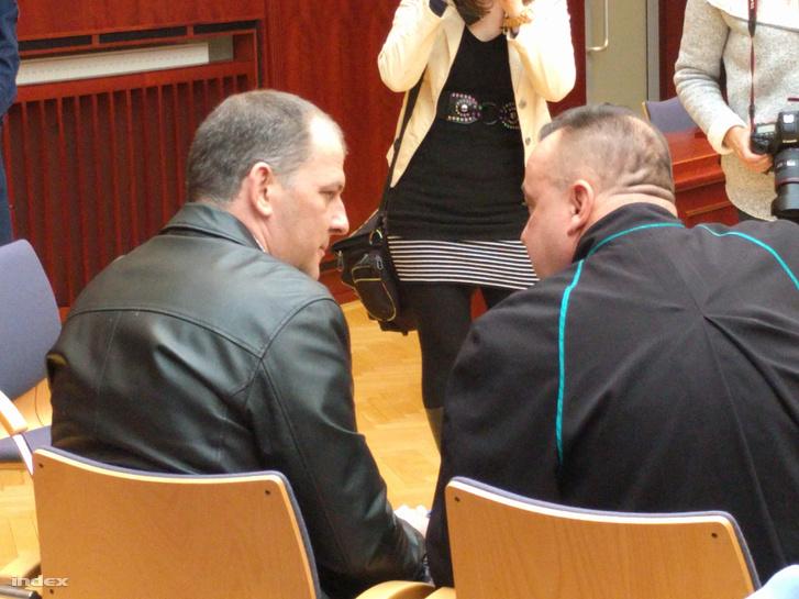 Gál Roland ügyvédjével februárban