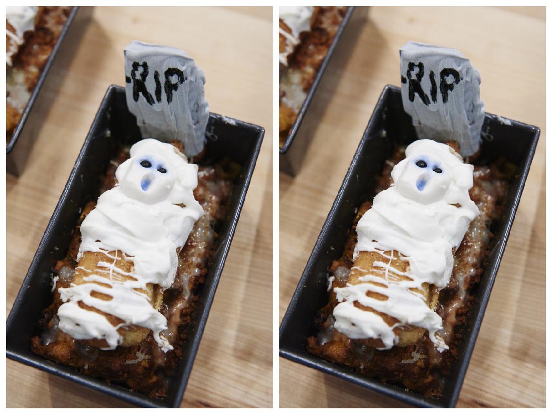 Múmiás, sütőtökös kenyérpudingsírok: finom, mutatós és különleges süti Halloweenre