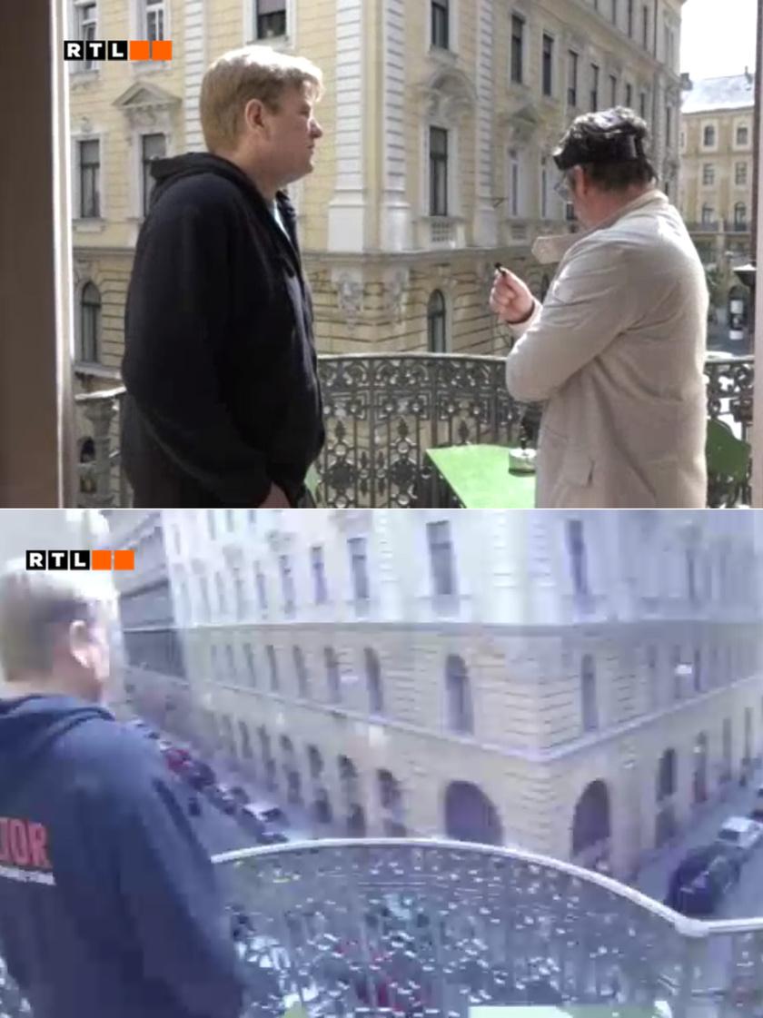 Anger Zsolt belvárosi lakásának erkélyéből csodás panoráma tárul fel.