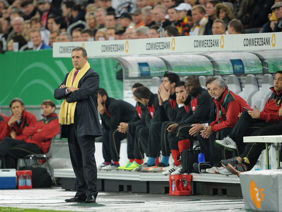 Georges Leekens belga csapatkapitány 2011-ben a Németország-Belgium mérkőzésen Düsseldorfban
