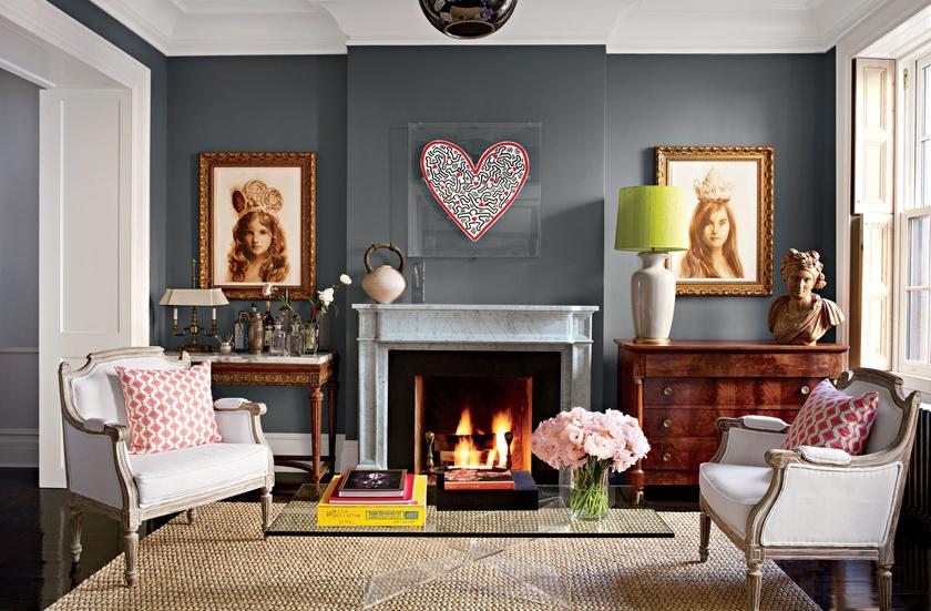 Igazi csajos berendezésű a színésznő nappalija - a szívet középen különösen imádjuk.