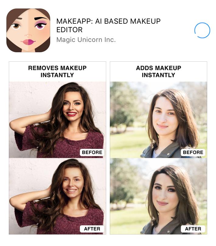 Az app felismeri az erős sminket, és természetes arcot kreál. De fordítva is szuperül működik, bármikor tökéletes sminket varázsolhatsz vele magadnak utólag a képeken.
