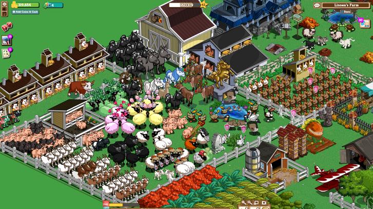 Így nézett ki egy kert a Farmville-ben.