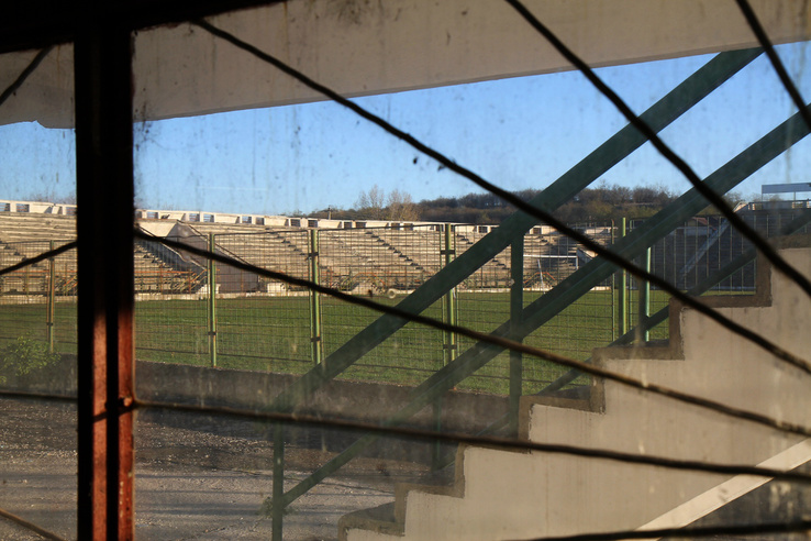 A maga idejében különleges volt a Stadionul Viitorul fedett lelátója