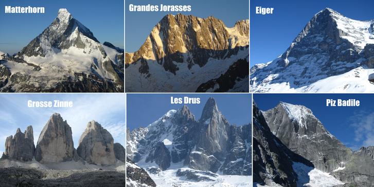 Salamon Márk az Alpok hat klasszikus északi falon futó útját mászta meg