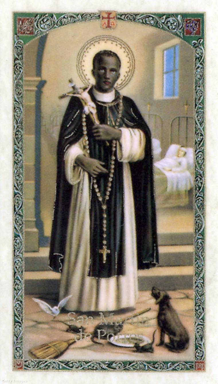 Porres Szent Márton egy szentképen.