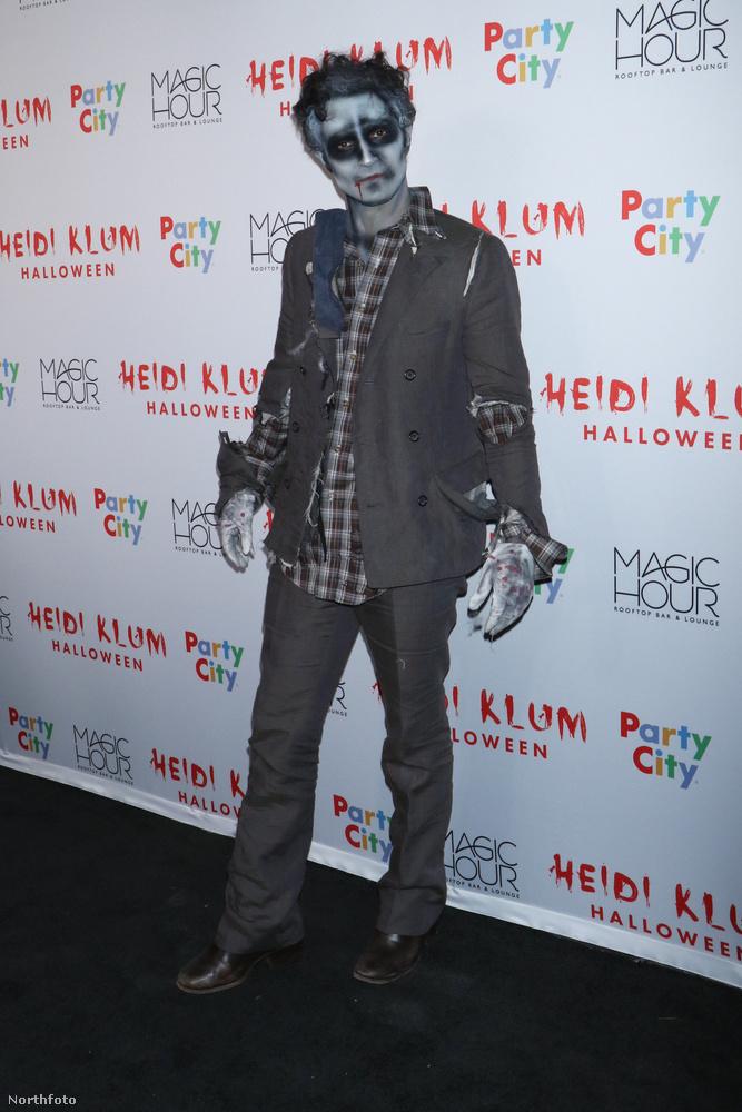 Érdekességképpen megmutatunk még egy zombi urat Heidi Klum partijáról,