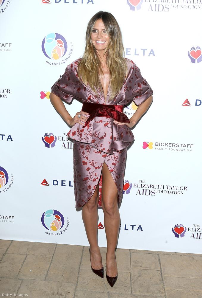Igen, Heidi Klum szupermodellről van szó