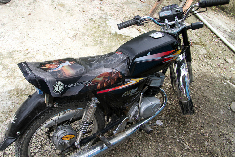 Sufnituning level 1 - Suzuki AX 100 custom