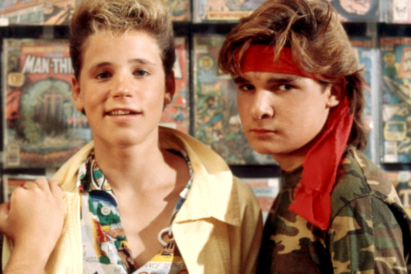Corey Haim és Corey Feldman a nyolcvanas években.