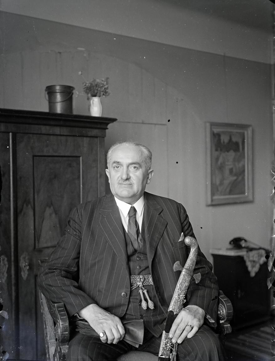 """dr. Halmay Béla, Miskolc 1935 és 1938 közötti polgármestere is meglátogatta a fővárosi műtermet. Bognár Tamás levéltáros azonosította, és ennek alapján Pirint Andrea nézett utána. Az egykor a Városházát díszítő portrét két összeírás is említette korábban, de a kép megsemmisült – gondolták eddig.                          Az, hogy azonos a miskolci Herman Ottó Múzeum által őrzött, """"Díszmagyaros férfi arcképe""""-vel, a Fortepanhoz került fotó alapján derült ki. """"A bekerülés idején senki sem foglalkozott vele, több más sorstársával együtt besuvasztották valahová, és amikor 1974-ben végül lyukasan, piszkosan nyilvántartásba vették, már feledésbe merült az ábrázolt személye. Így lett belőle 'Díszmagyaros férfi arcképe'. A portré pontosan a Bánovszky-féle fotó alapján készült, csak a viselet változott."""""""