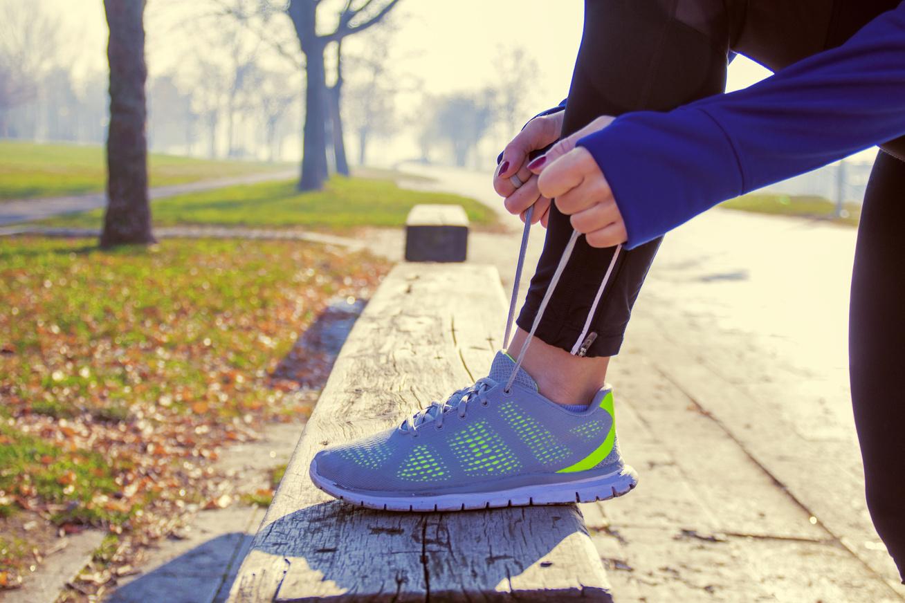 nő jogging