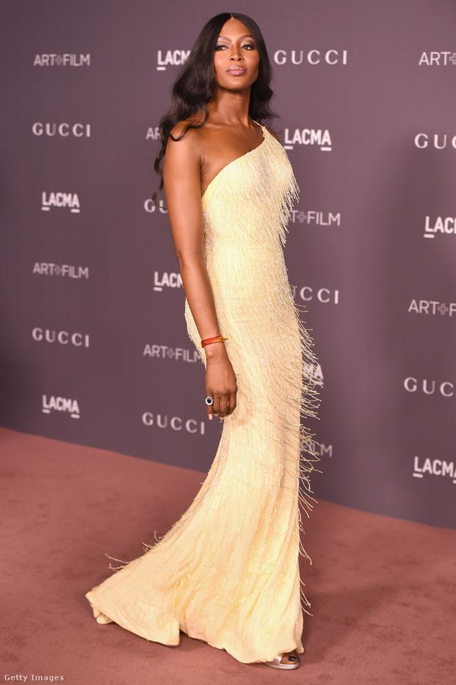 Naomi Campbellel mostanában tényleg semmi érdekes nem történik, de ebben a ruhában mesésen néz ki,